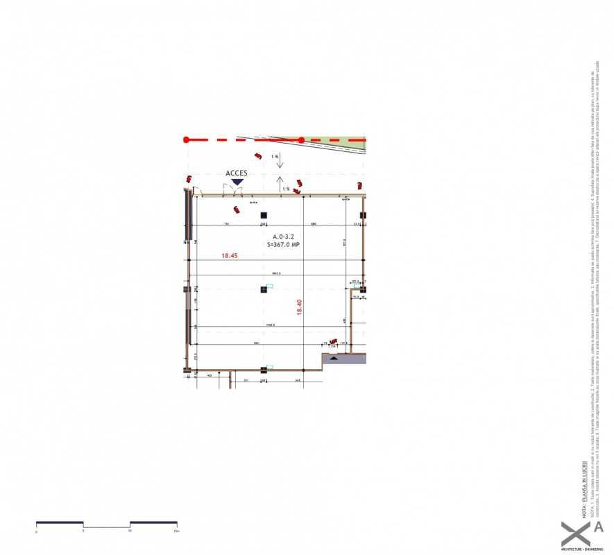 Spațiu Comercial de 174,70 m² de vânzare Blueprint