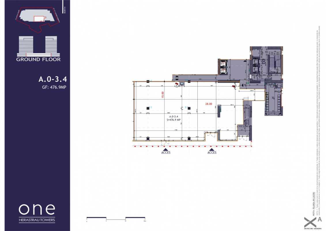 Spațiu Comercial de 160,10 m² de vânzare Blueprint