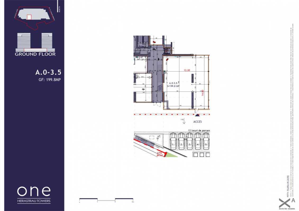 Spațiu Comercial de 174,30 m² de vânzare Blueprint
