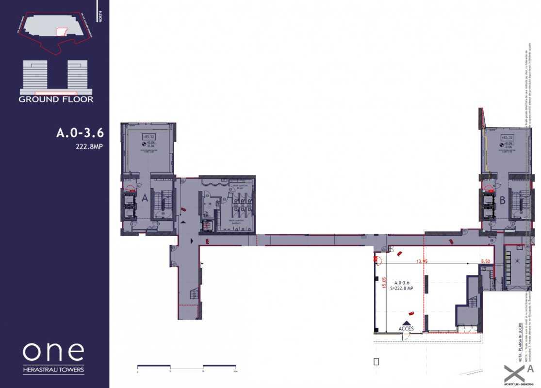 Spațiu Comercial de 222,80 m² de vânzare Blueprint