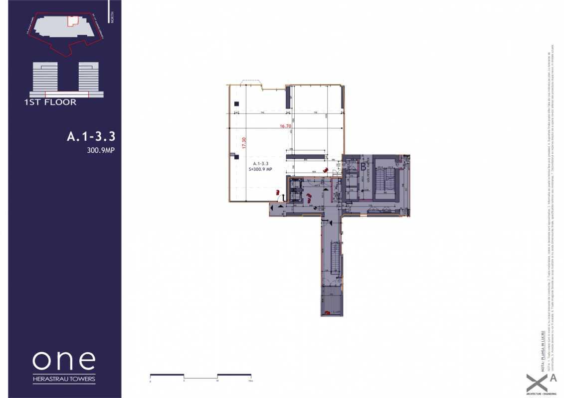 Spațiu Comercial de 220,70 m² de vânzare Blueprint
