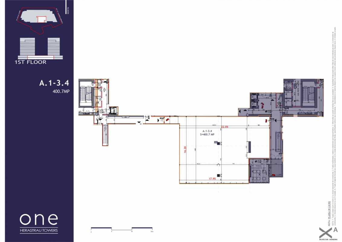 Spațiu Comercial de 160,70 m² de vânzare Blueprint