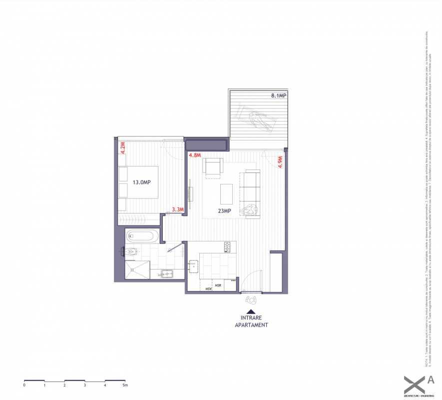 1 Bedroom Apartment For Sale In One Verdi Park Blueprint