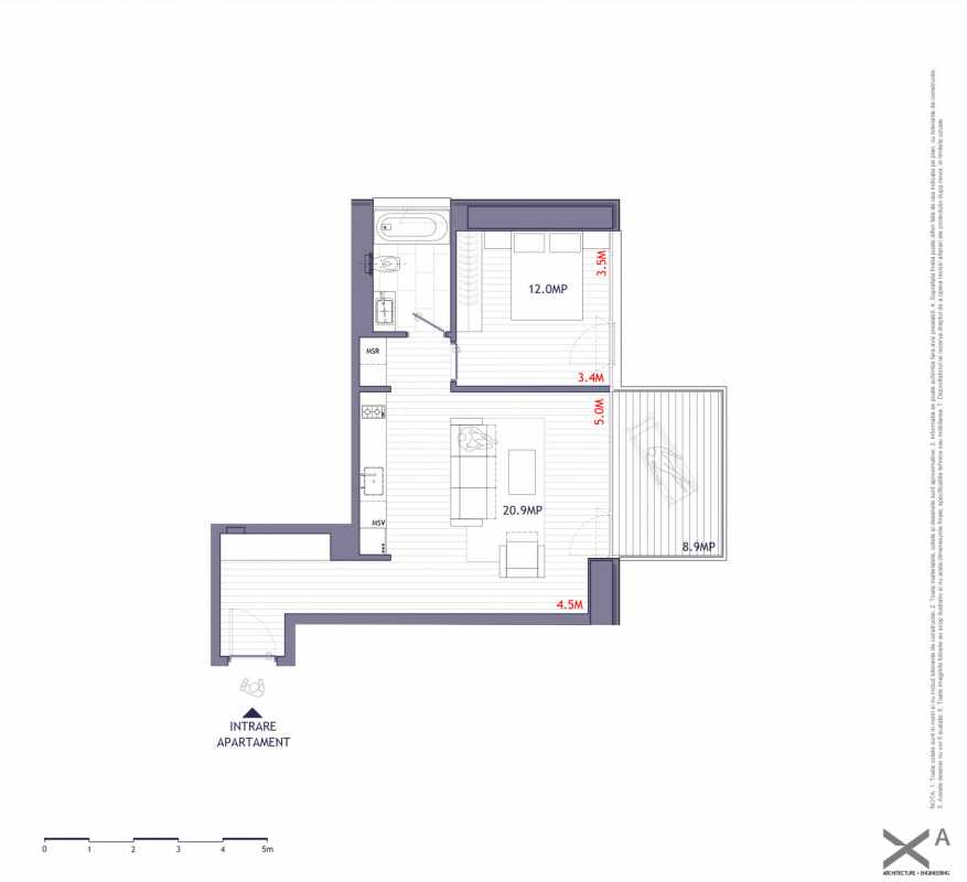 1 Bedroom Apartment For Sale In One Verdi Park Blueprint