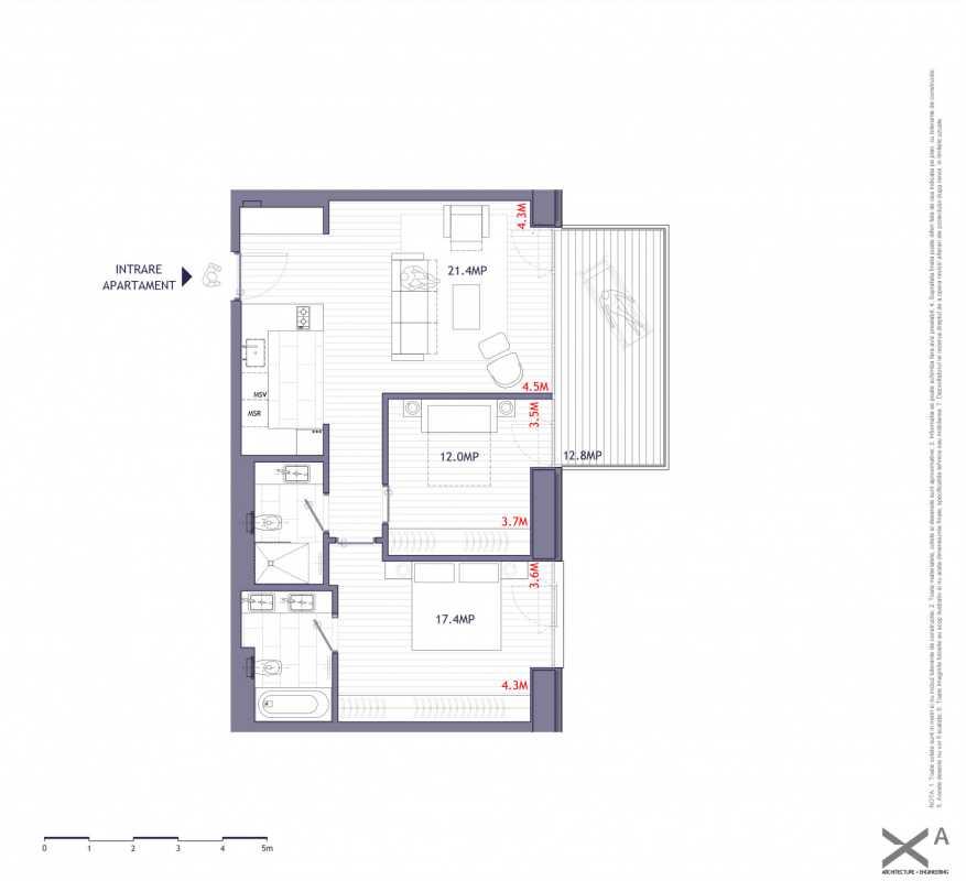 2 Bedroom Apartment For Sale In One Verdi Park Blueprint