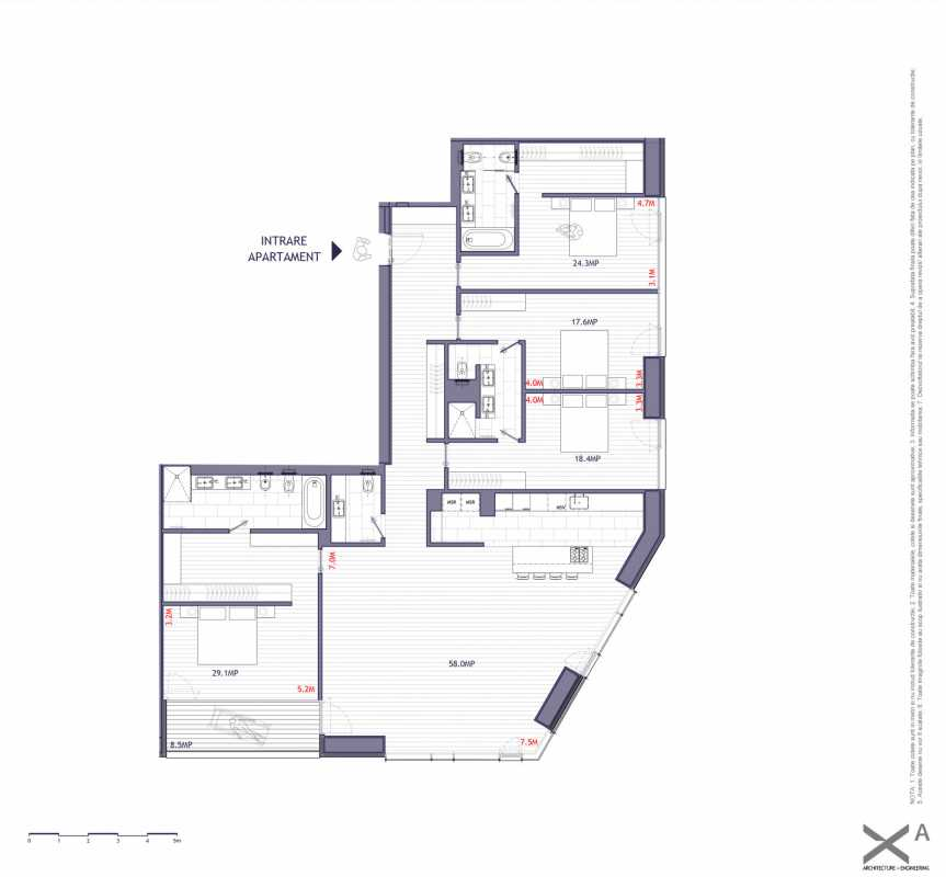 4 Bedroom Apartment For Sale In One Verdi Park Blueprint