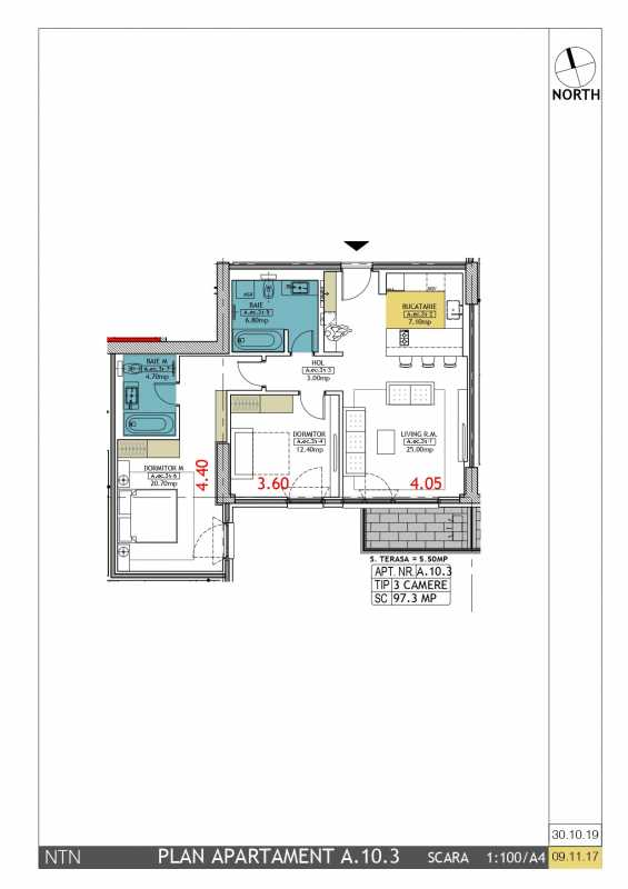 2 Bedroom Apartment For Sale In Neo Timpuri Noi Blueprint
