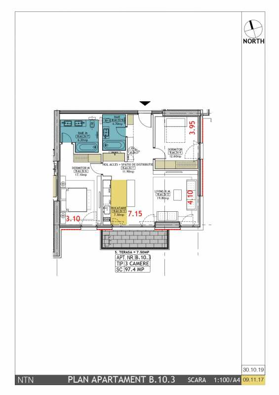 2 Bedroom Apartment For Sale In Neo Timpuri Noi Blueprint