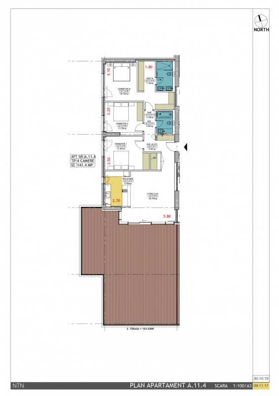 3 Bedroom Apartment For Sale In Neo Timpuri Noi Blueprint