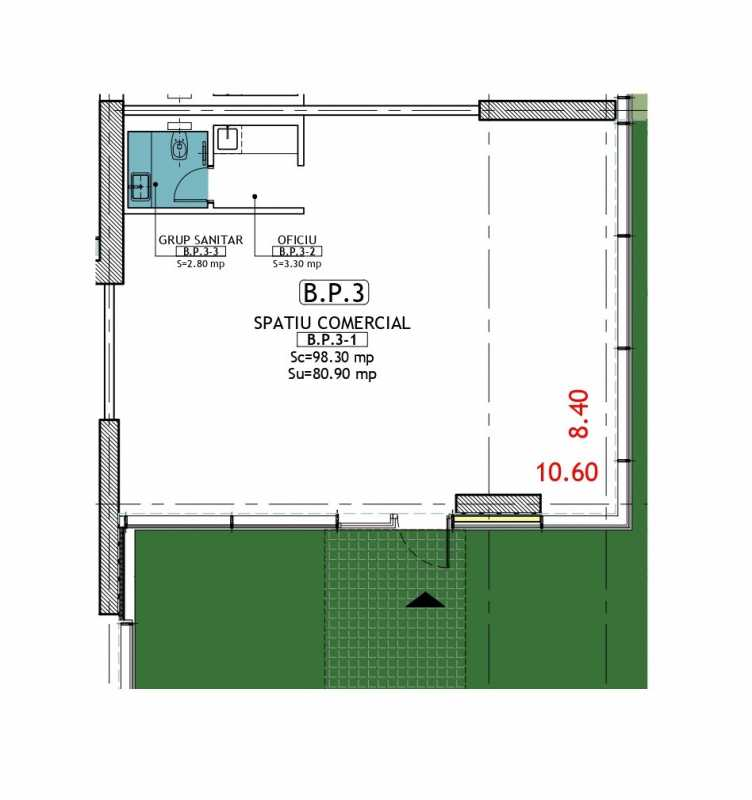 98.3 sqm Commercial Space For Sale In Neo Timpuri Noi Blueprint