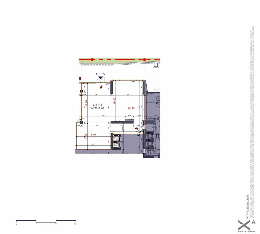 220.5 sqm Commercial Space For Sale In One Herastrau Towers Blueprint