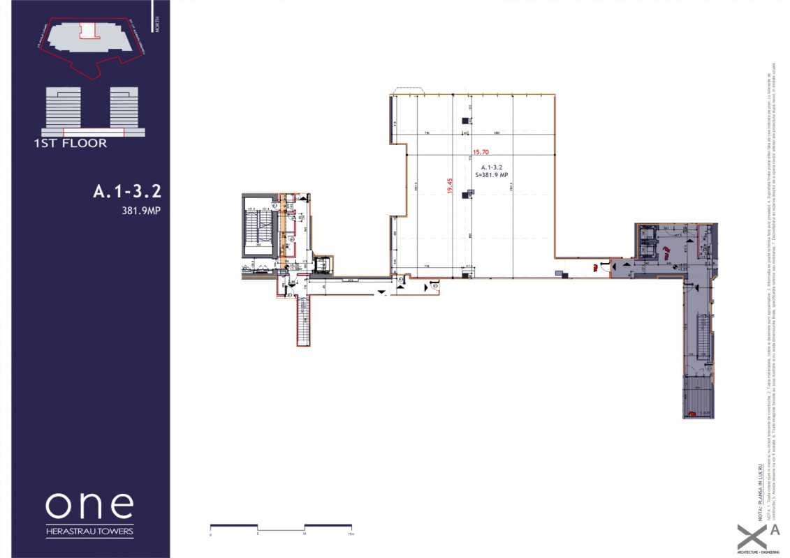 175.4 sqm Commercial Space For Sale In One Herastrau Towers Blueprint