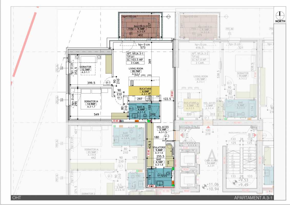 2 Bedroom Apartment For Sale In One Herastrau Towers Blueprint