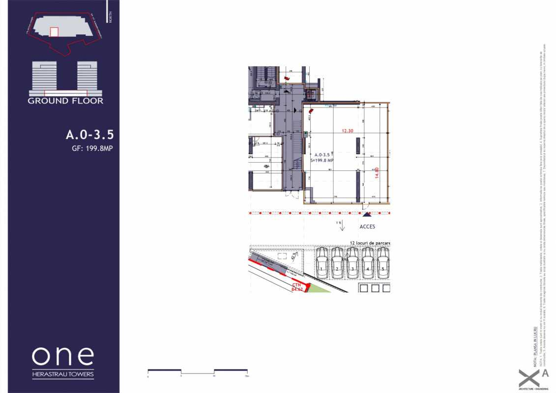 174.3 sqm Commercial Space For Sale In One Herastrau Towers Blueprint