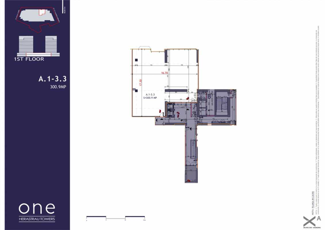 220.7 sqm Commercial Space For Sale In One Herastrau Towers Blueprint