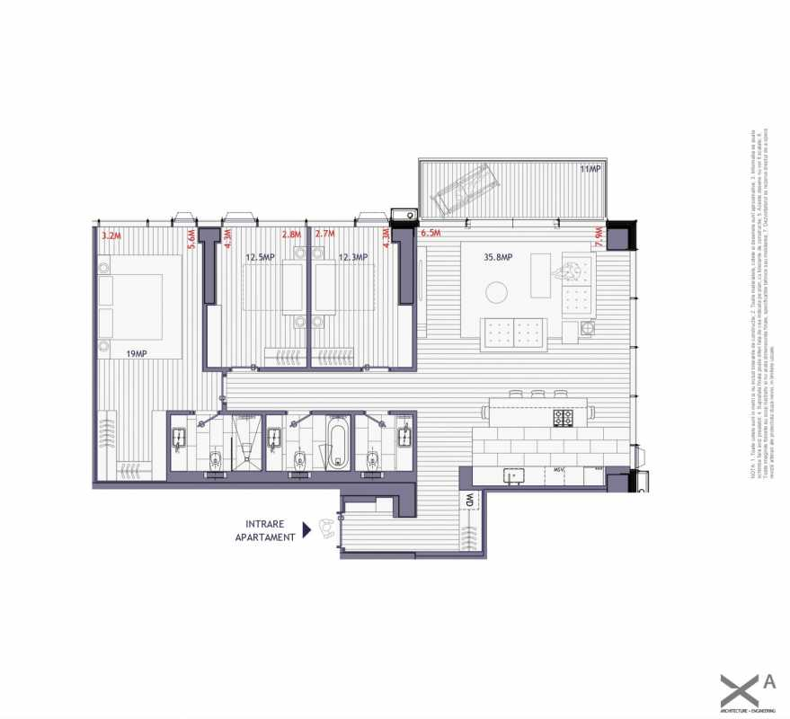3 Bedroom Apartment For Sale In One Mircea Eliade Blueprint