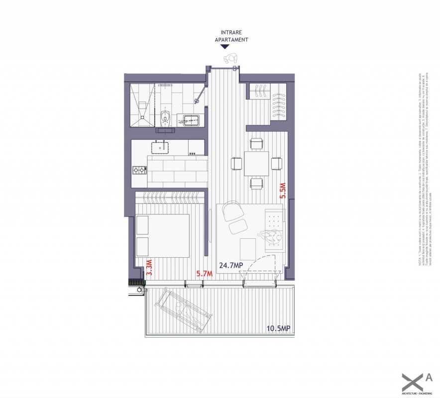 1 Bedroom Apartment For Sale In One Mircea Eliade Blueprint