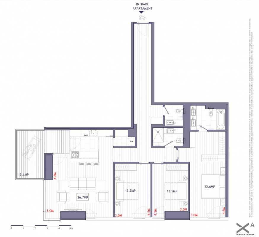 3 Bedroom Apartment For Sale In One Verdi Park Blueprint
