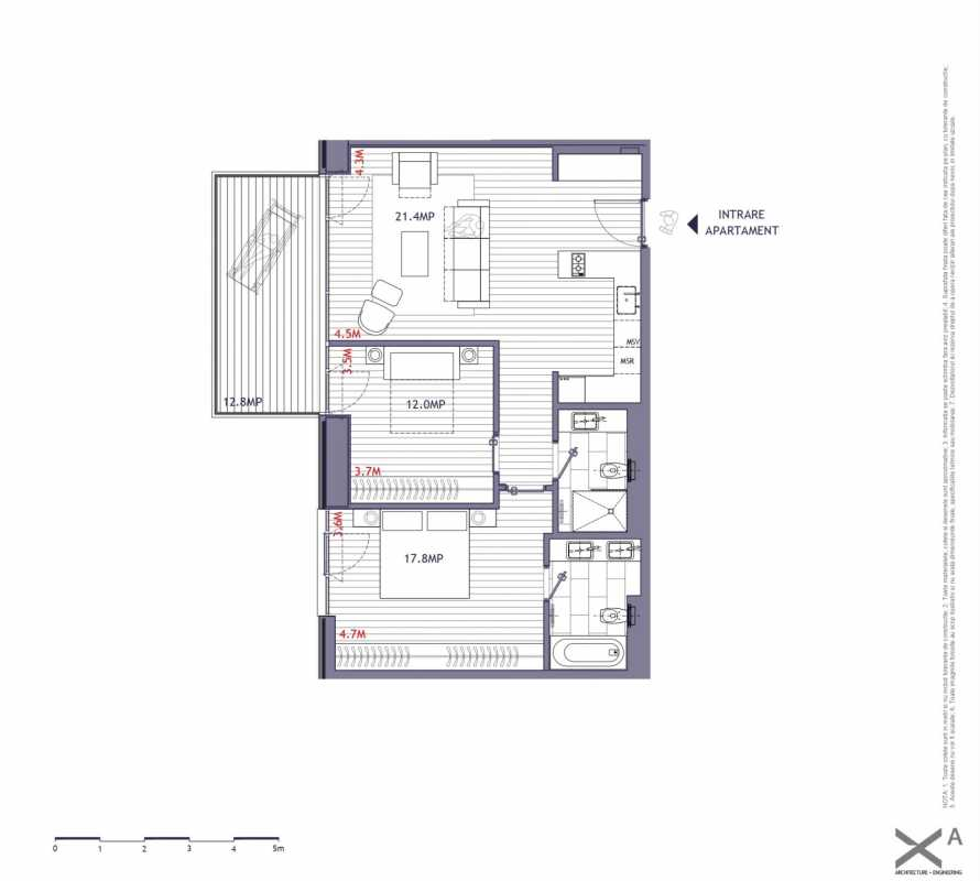2 Bedroom Apartment For Sale In One Verdi Park Blueprint
