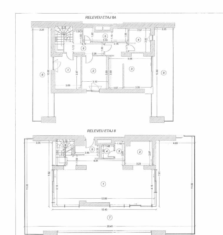 3 Bedroom Duplex For Sale In One Herastrau Plaza Blueprint