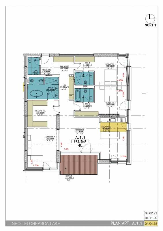 3 Bedroom Apartment For Sale In Neo Floreasca Lake Blueprint