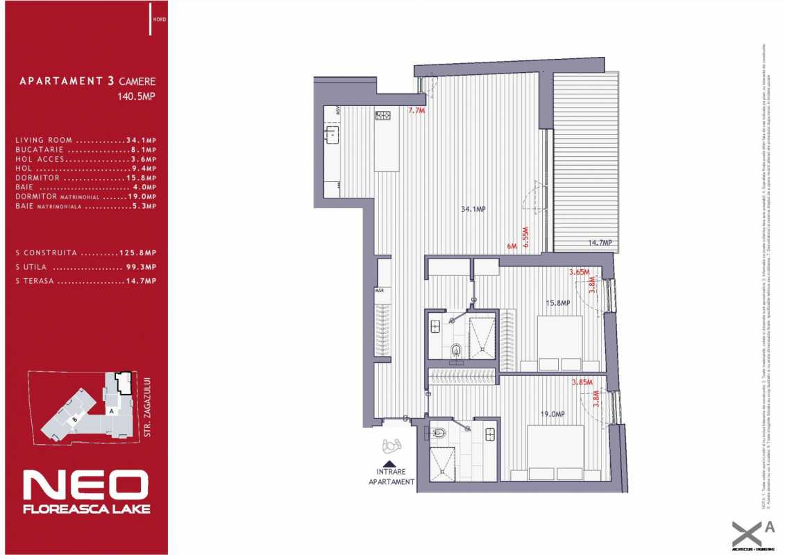 2 Bedroom Apartment For Sale In Neo Floreasca Lake Blueprint