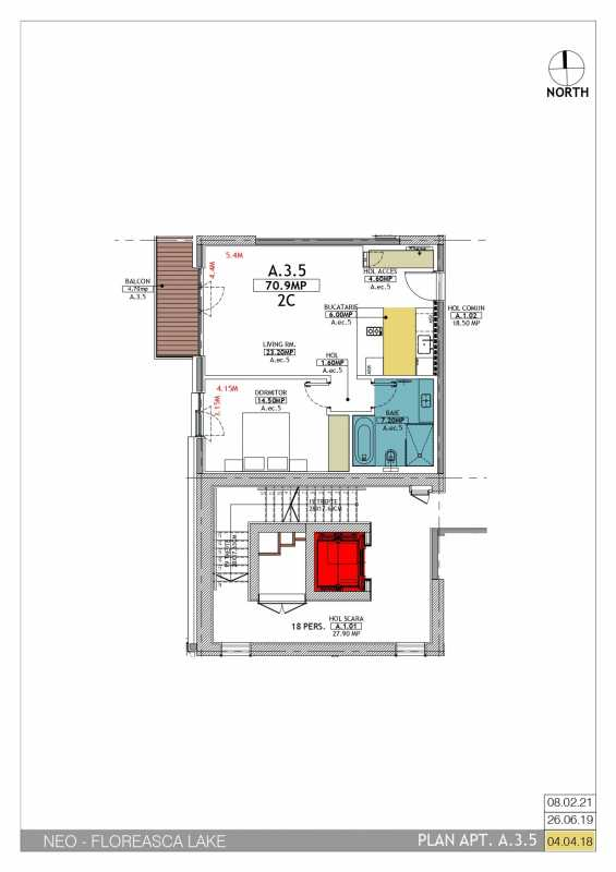 1 Bedroom Apartment For Sale In Neo Floreasca Lake Blueprint