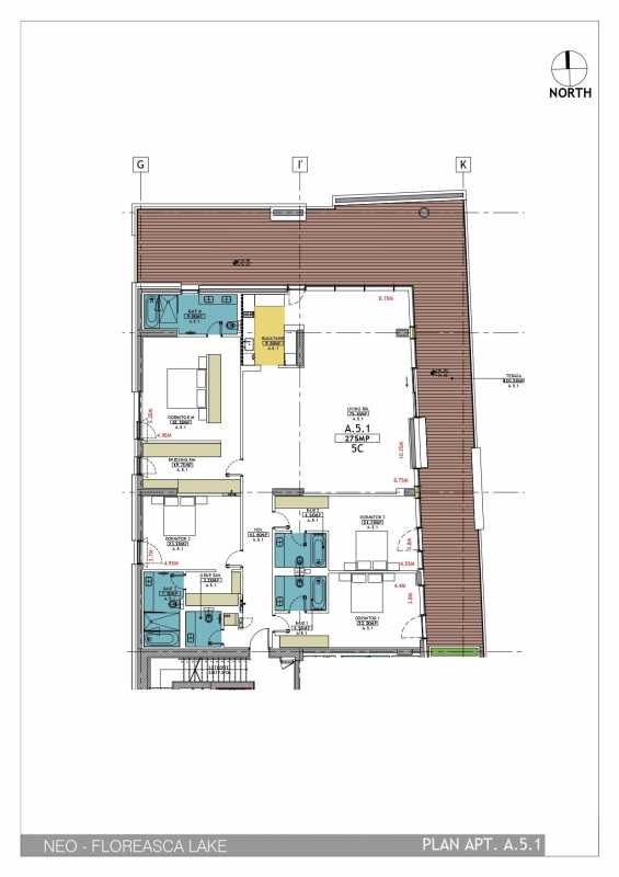 4 Bedroom Apartment For Sale In Neo Floreasca Lake Blueprint