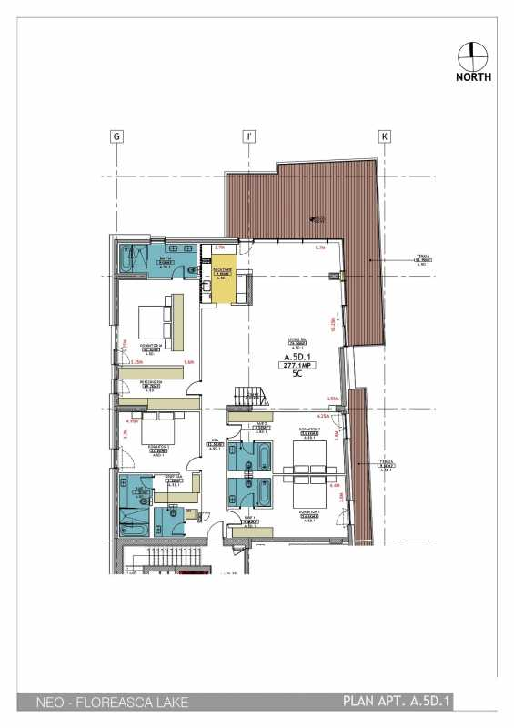 4 Bedroom Penthouse For Sale In Neo Floreasca Lake Blueprint