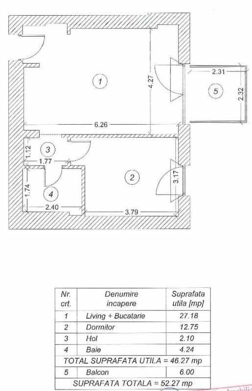 1 Bedroom Apartment For Rent In One Herastrau Plaza Blueprint